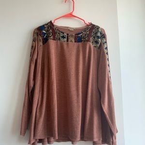 Float Sweater with Tribal Print